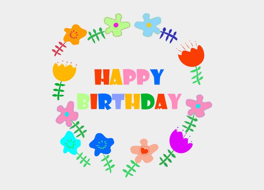 birthday clip art, Cartoons - Happy Birthday Greeting With Flowers, Bambi Birthday - Happy Birthday Flowers Clip Art