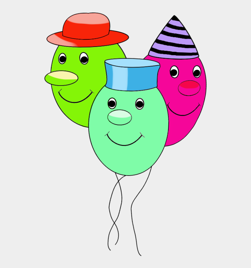 birthday clip art, Cartoons - Funny Balloons With Faces For Birthday, Funny Birthday - Funny Birthday Balloons Clipart