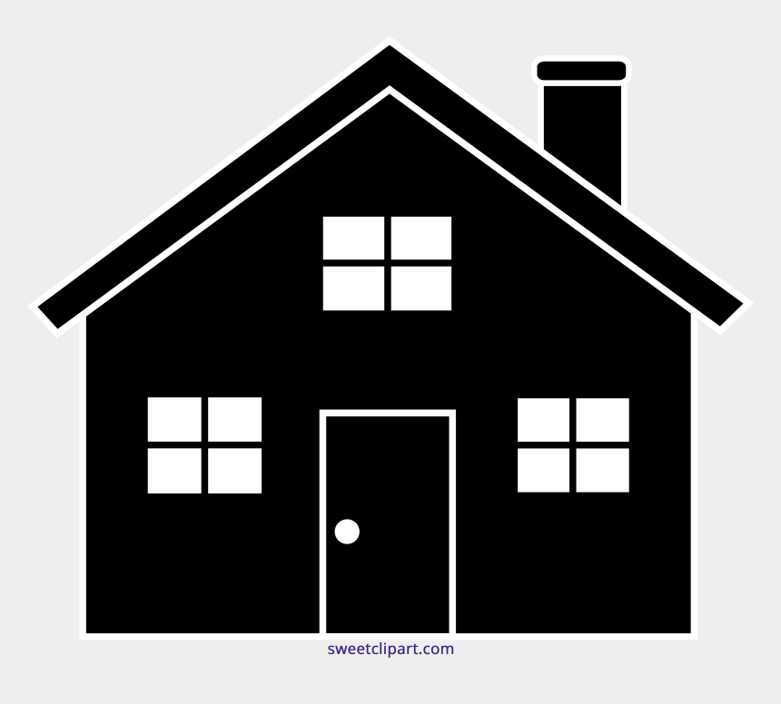 house clip art, Cartoons - House Symbol - Transparent Background Silhouette House