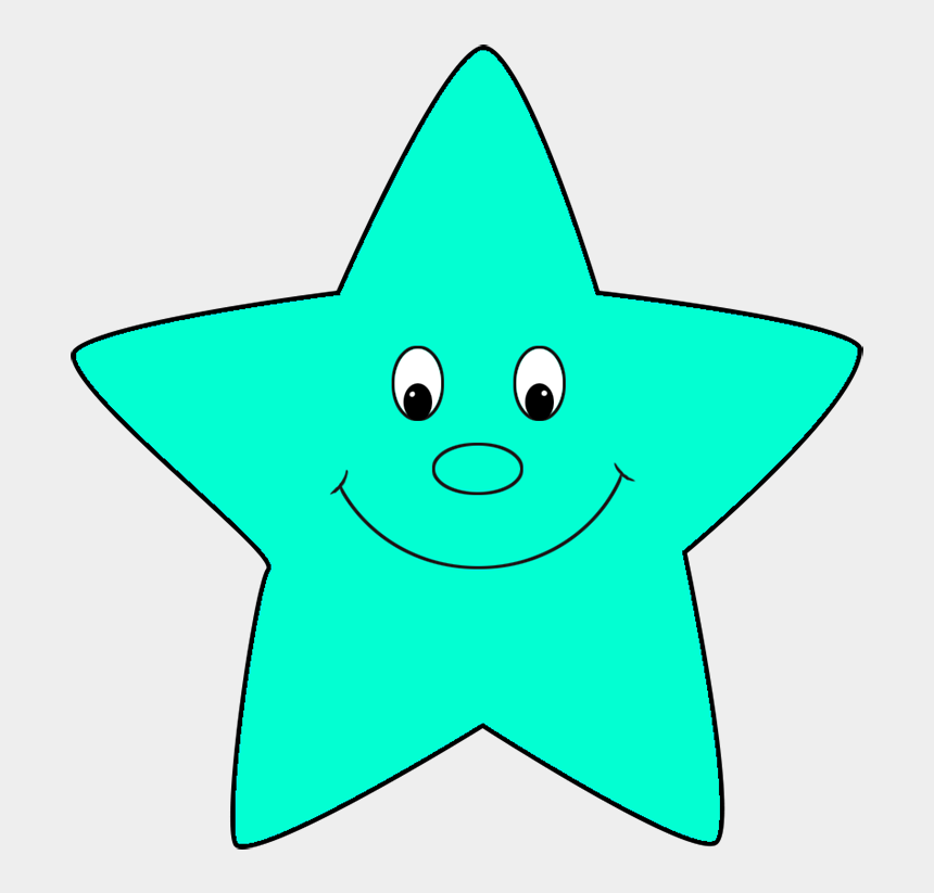 Turquoise Cartoon Star - Cartoon Star Clipart Png, Cliparts