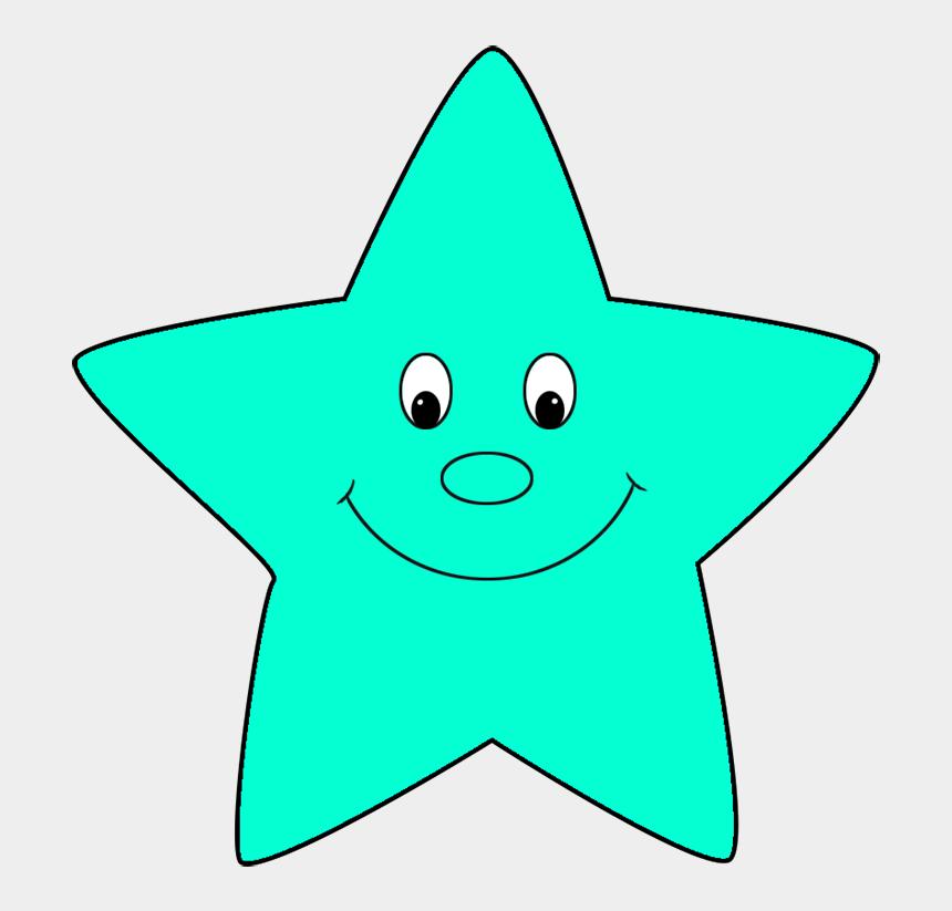 star clip art, Cartoons - Turquoise Cartoon Star - Cartoon Star Clipart Png