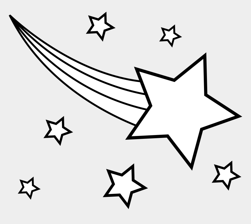 star clip art, Cartoons - Clipart Of Stars, Star And Addition - Shooting Star Star Clipart Black And White