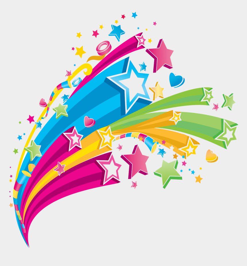 star clip art, Cartoons - Shooting Star Clipart Rainbow - Colorful Star Design Png