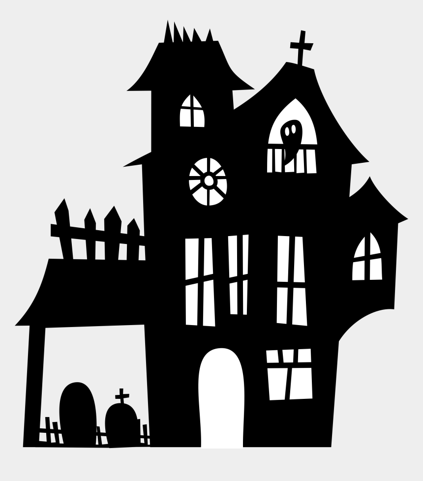 Halloween Spooky House.Haunted Clipart Spooky House Halloween Haunted House