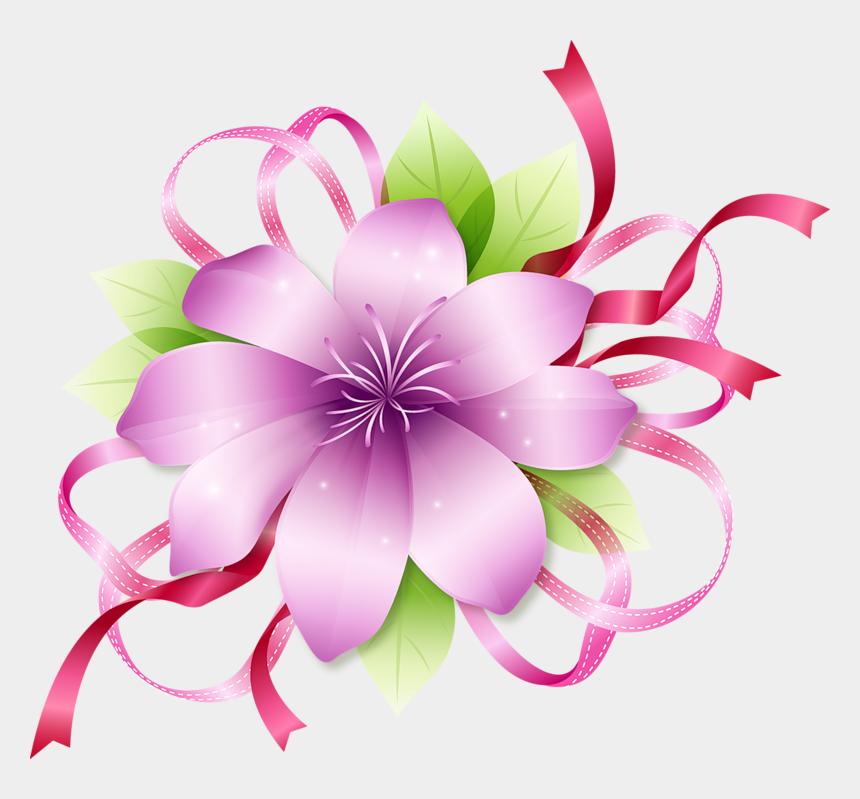 flower clip art, Cartoons - Clipart Pink Flowers - Flower Border Design Png