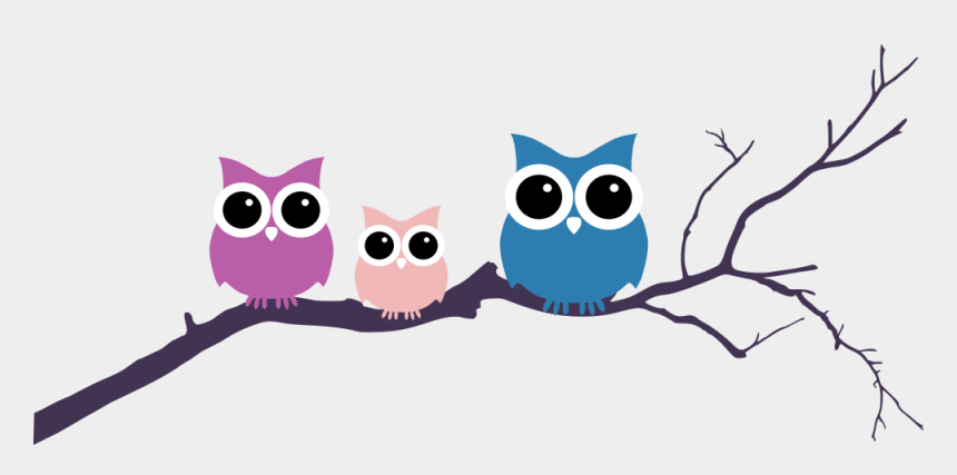owl clip art, Cartoons - Owl On Tree Three Rooweb Ⓒ - Owls On Tree Branch