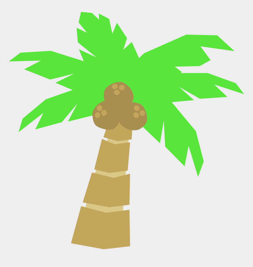 tree clip art, Cartoons - Vector Palm Trees Clip Art At Clker Vector Clip Art - Simple Cartoon Coconut Tree