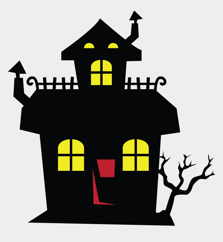 house clip art, Cartoons - Download - Haunted House Halloween Clipart