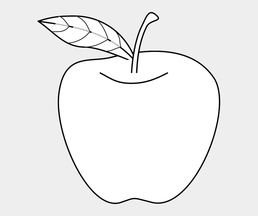 apple clip art, Cartoons - Apple With Leaf Drawing