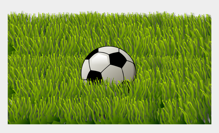 soccer ball clipart, Cartoons - Grass Clipart Soccer Ball - Ball On The Grass Clipart