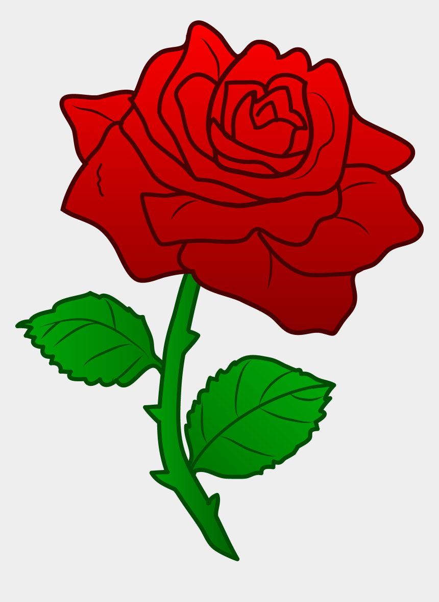 rose clip art, Cartoons - Rose Flower Clipart - Beauty And The Beast Rose Clipart
