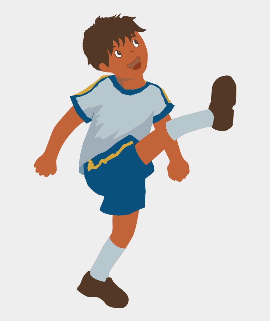 soccer ball clipart, Cartoons - Clipart Soccer Player No Ball - Kick Clipart