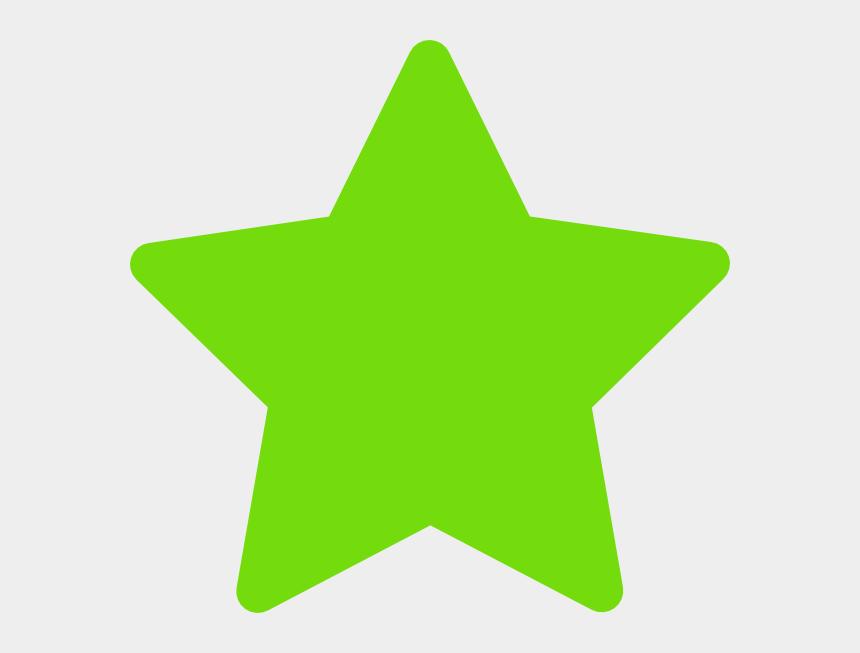 star clip art, Cartoons - Green Star Clip Art