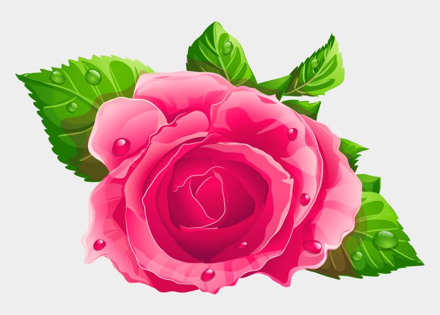 rose clip art, Cartoons - Pink Rose Clipart Png , Png Download - Rose Clipart Flower Png