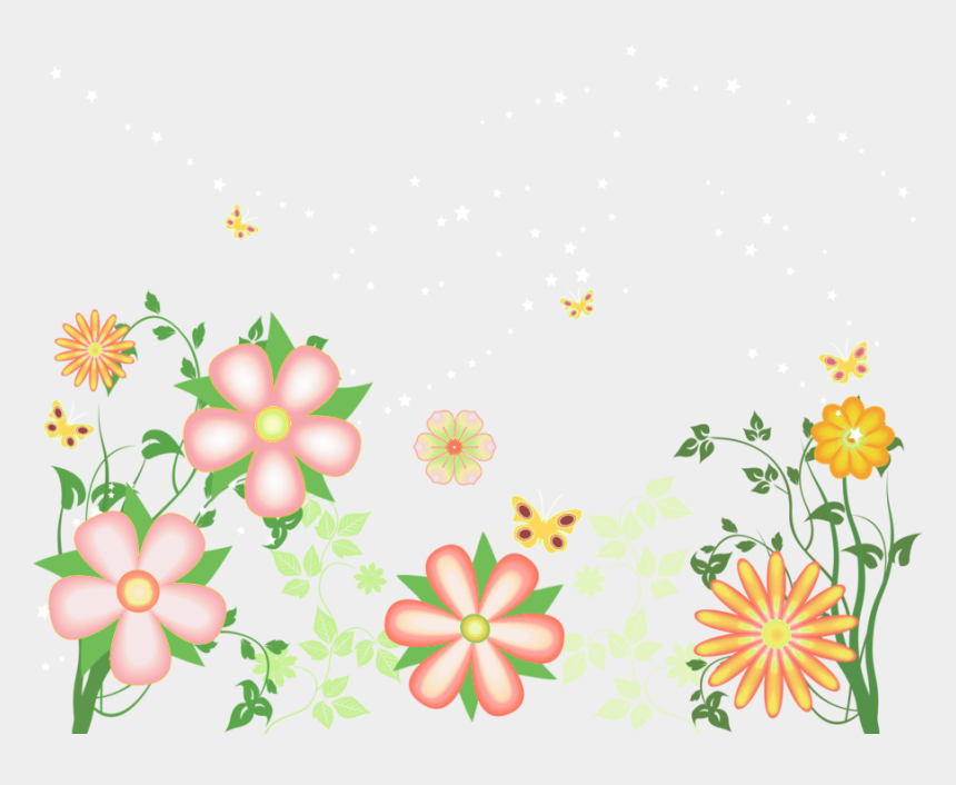 flower clip art, Cartoons - Decorative Flowers Free Transparent Clipart - Transparent Floral Border Clipart