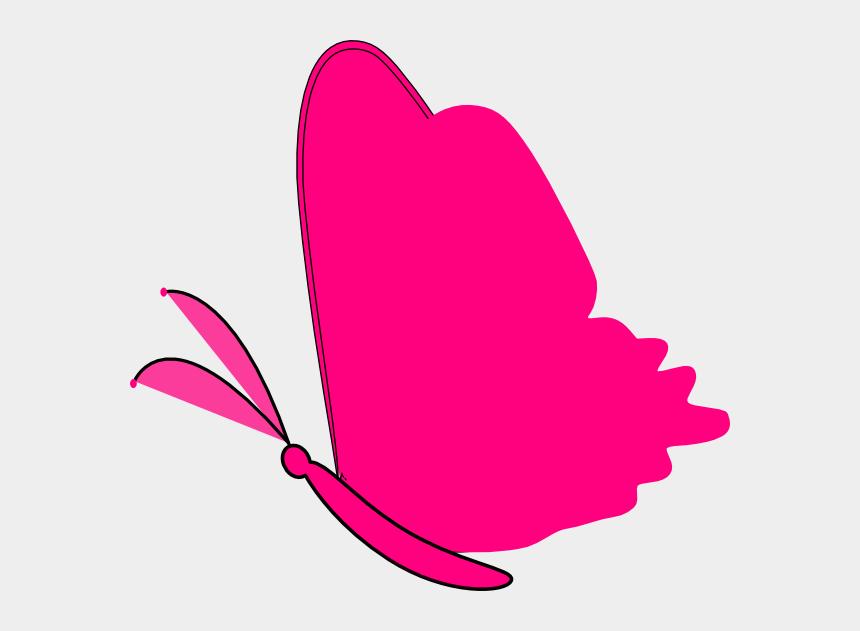 butterfly clip art, Cartoons - Heart And Butterfly Clipart - Pink Butterfly Clip Art Png