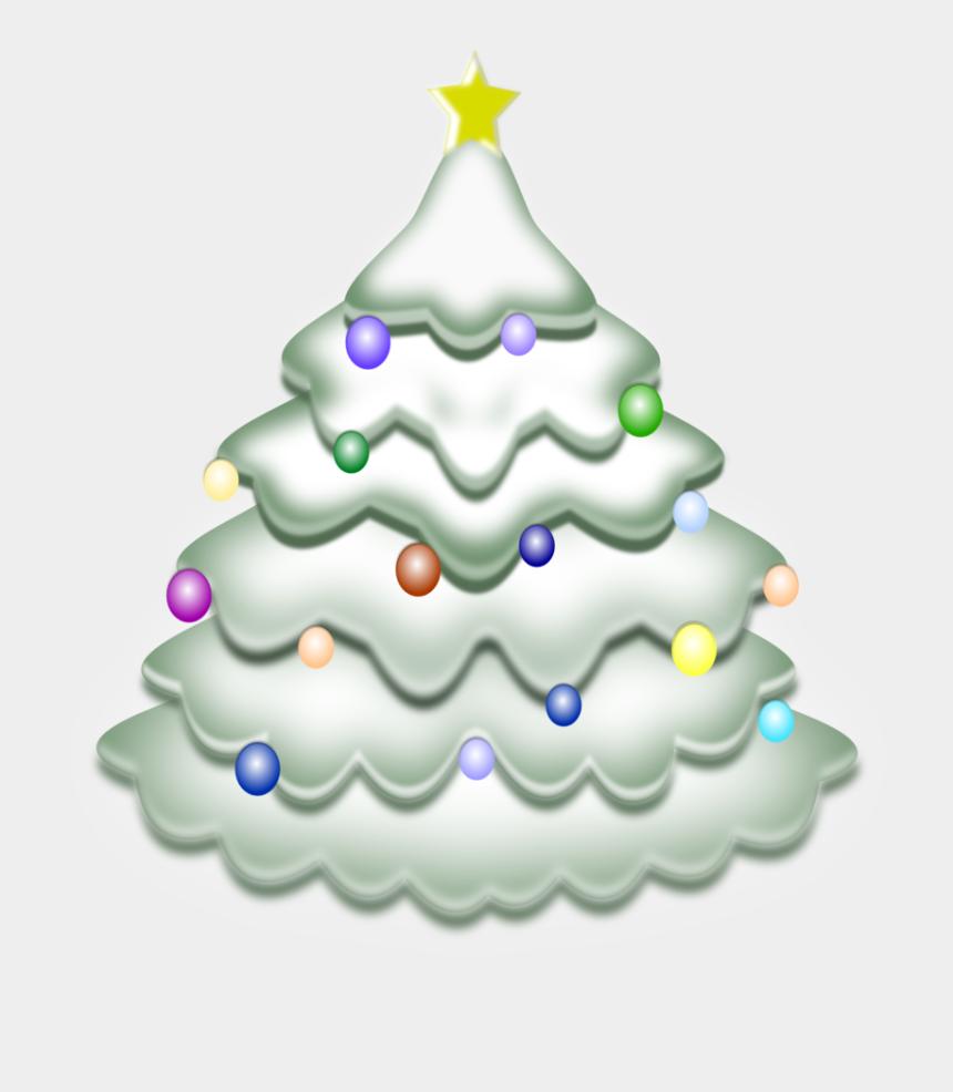 tree clip art, Cartoons - Christmas Tree Clip Art - Snow Christmas Tree Png