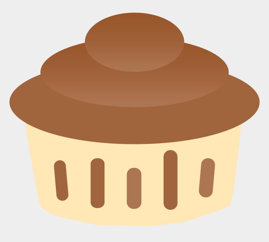 cupcake clipart, Cartoons - Vanilla Chocolate Cupcake Clipart - Chocolate Souffle Clipart