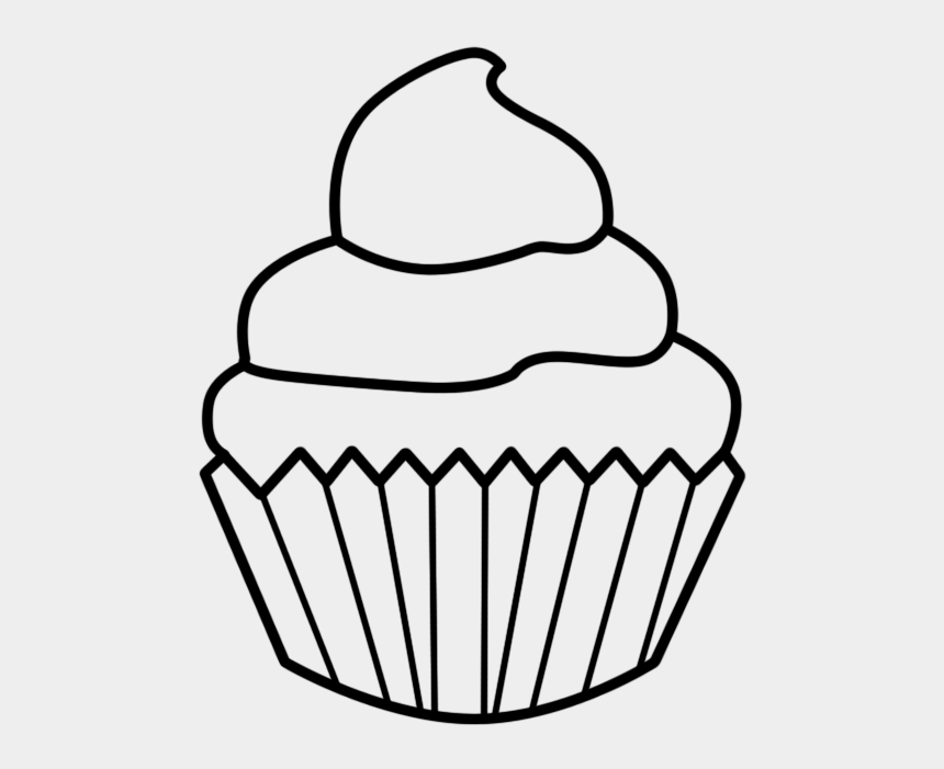 cupcake clipart, Cartoons - Cupcake Clipart Free Black And White - Easy Cupcake Drawing