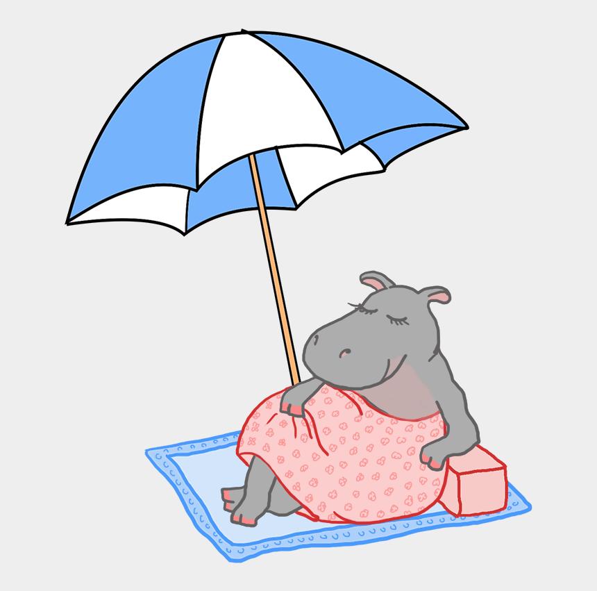 clip art pictures, Cartoons - Summer With Parasol And Beach - Payung Pantai Kartun Png