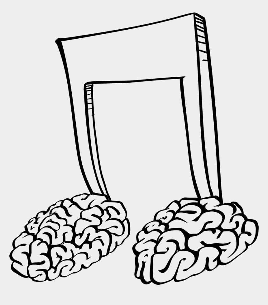 brain clipart, Cartoons - Music Notes And Brain
