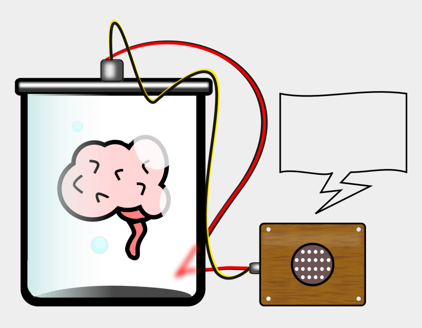 brain clipart, Cartoons - Brain In A Jar - Engineers Translate Brain Signals Directly Into Speech