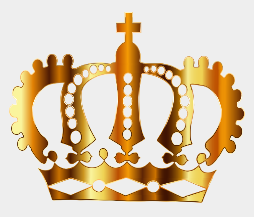 crown clip art, Cartoons - Crown Clipart No Background - Gold Crown With No Background
