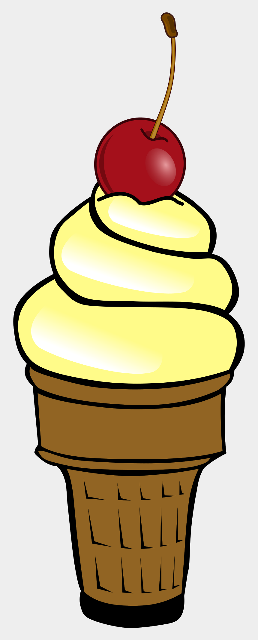 ice cream clipart, Cartoons - Soft Ice Cream With Cherry - Ice Cream Cone Candyland