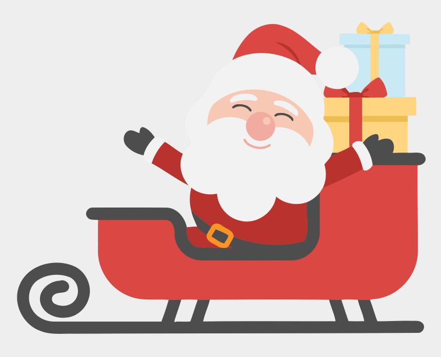 Christmas Clipart Santa.Merry Christmas Clipart Santa Santa And His Sleigh Clipart