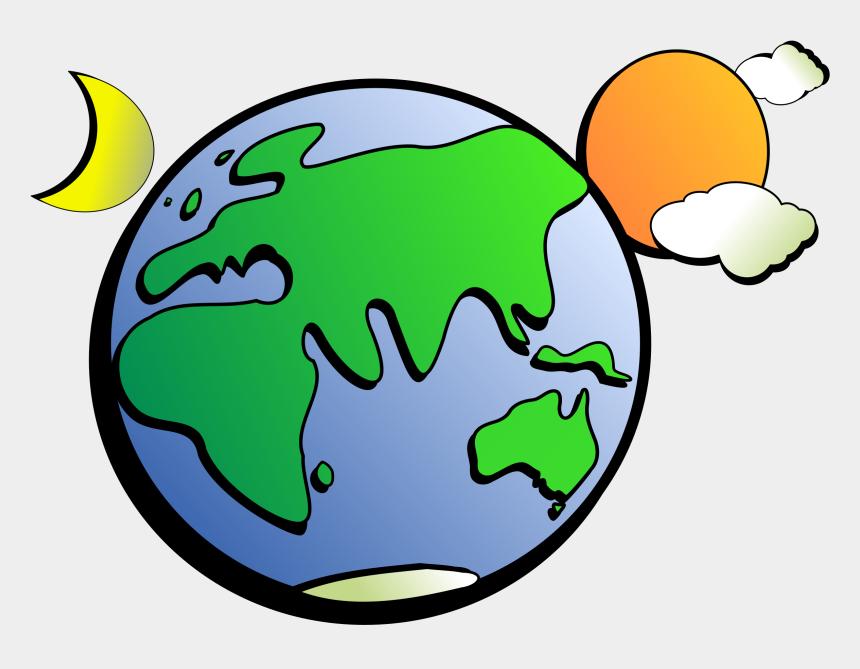 earth clipart, Cartoons - Aussie Earth - Earth Moon Sun Clip Art