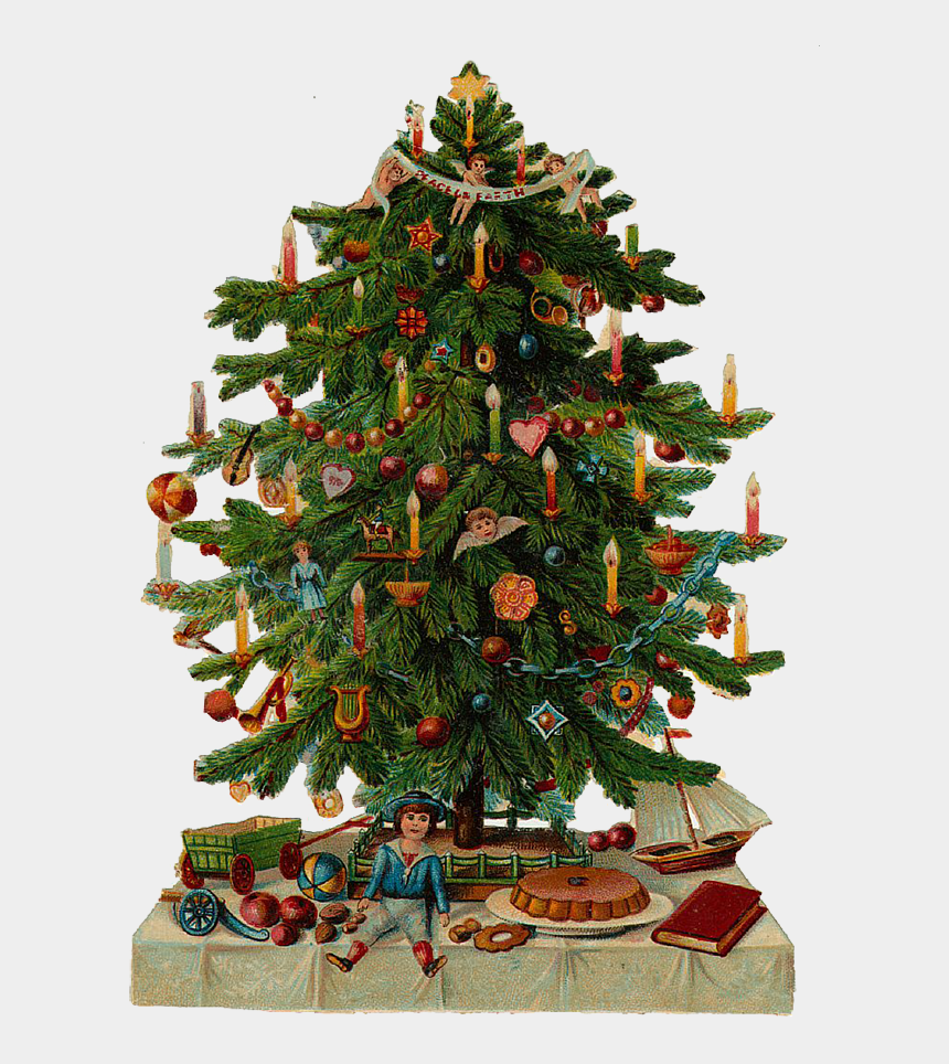 Victorian Christmas Tree.Victorian Christmas Tree Illustration Cliparts Cartoons