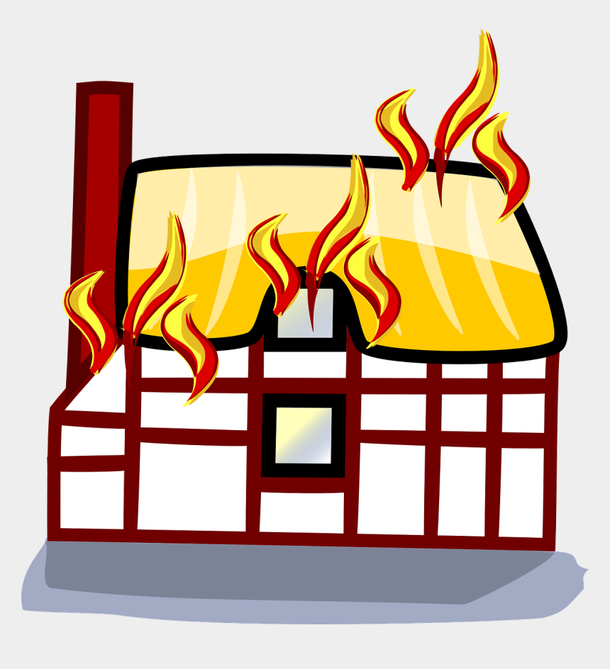 fire clipart, Cartoons - Everything You Need To Know About Fire Safety In Your - Cartoon Houses On Fire