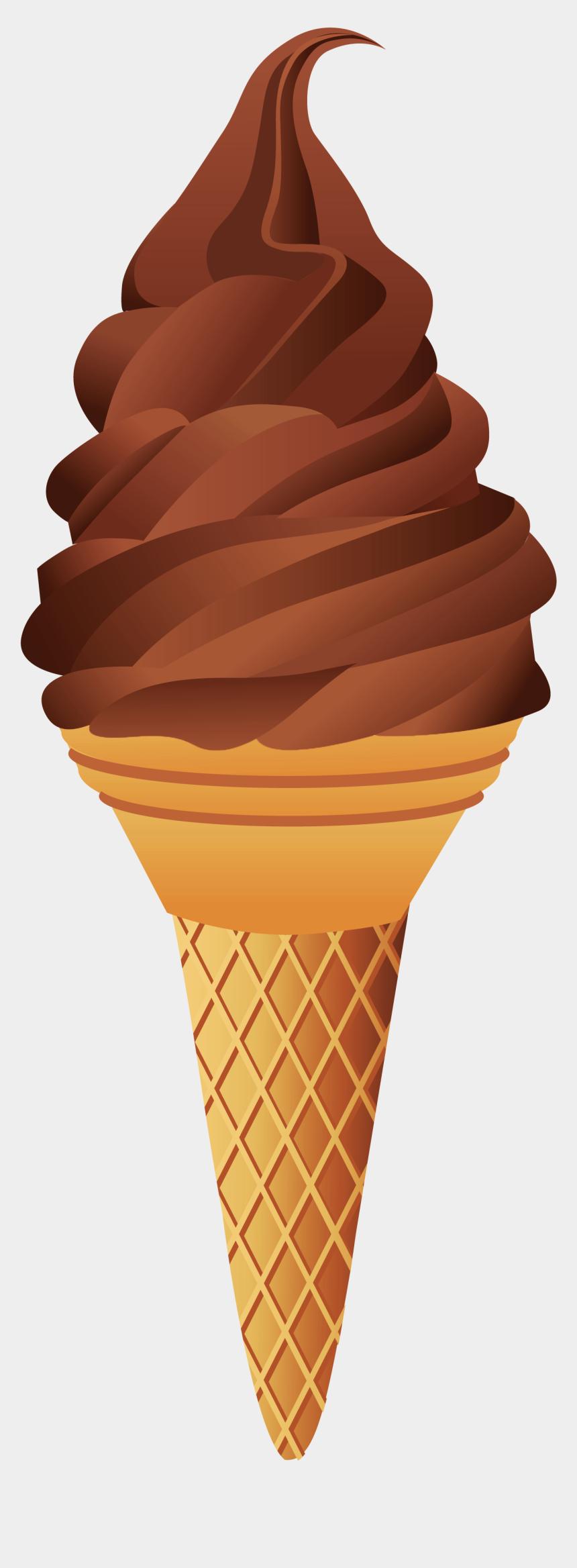 ice cream clipart, Cartoons - Chocolate Ice Cream Clipart , Png Download - Chocolate Ice Cream Cone Clipart