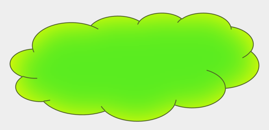 cloud clipart, Cartoons - Green Cloud Clipart