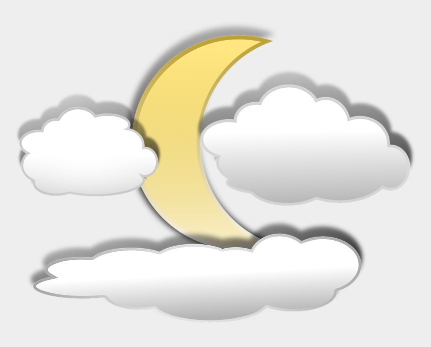 cloud clipart, Cartoons - Free To Use Public Domain Space Clip Art - Cartoon Moon And Clouds