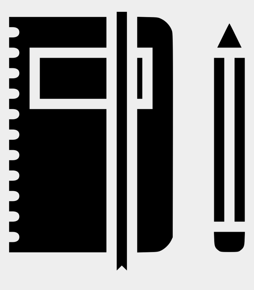 pencil clipart, Cartoons - Pencil Clipart Folder - Pen And Notebook Icon Png