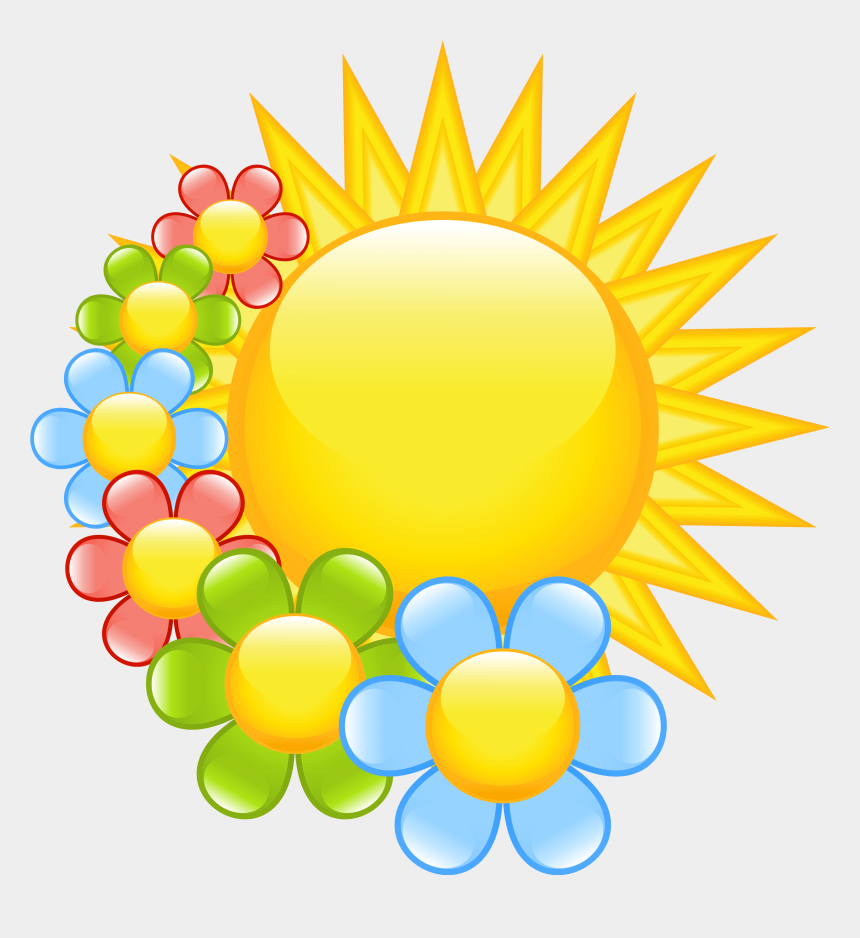 Spring Sun With Flowers Clipart - Easter Spring Clip Art, Cliparts &  Cartoons - Jing.fm