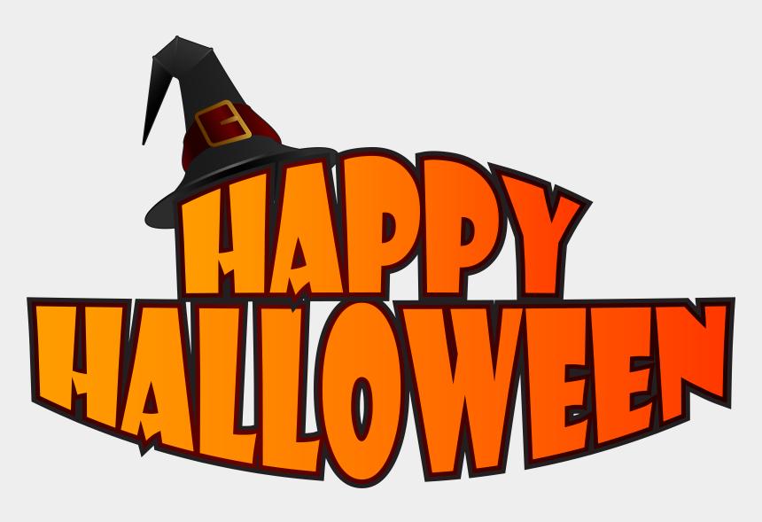 pumpkin clipart, Cartoons - Happy Halloween Cut Out Pumpkin Banner - Happy Halloween Logo Png
