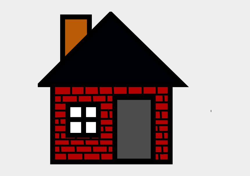 house clipart, Cartoons - Brick House Clipart - House Clip Art