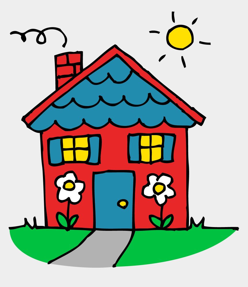 house clip art, Cartoons - Charming Little Red House - House Clipart