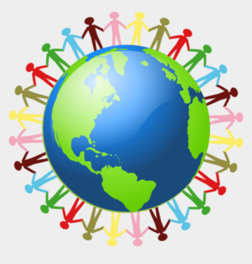 earth clipart, Cartoons - World Earth Clipart - People Holding Hand Around The World