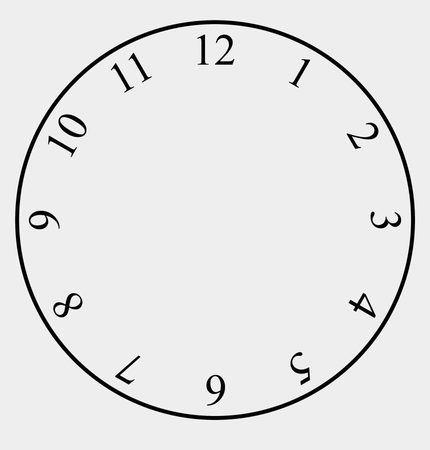 Clock Clipart With No Hands - Analog Clock Without Hands ...