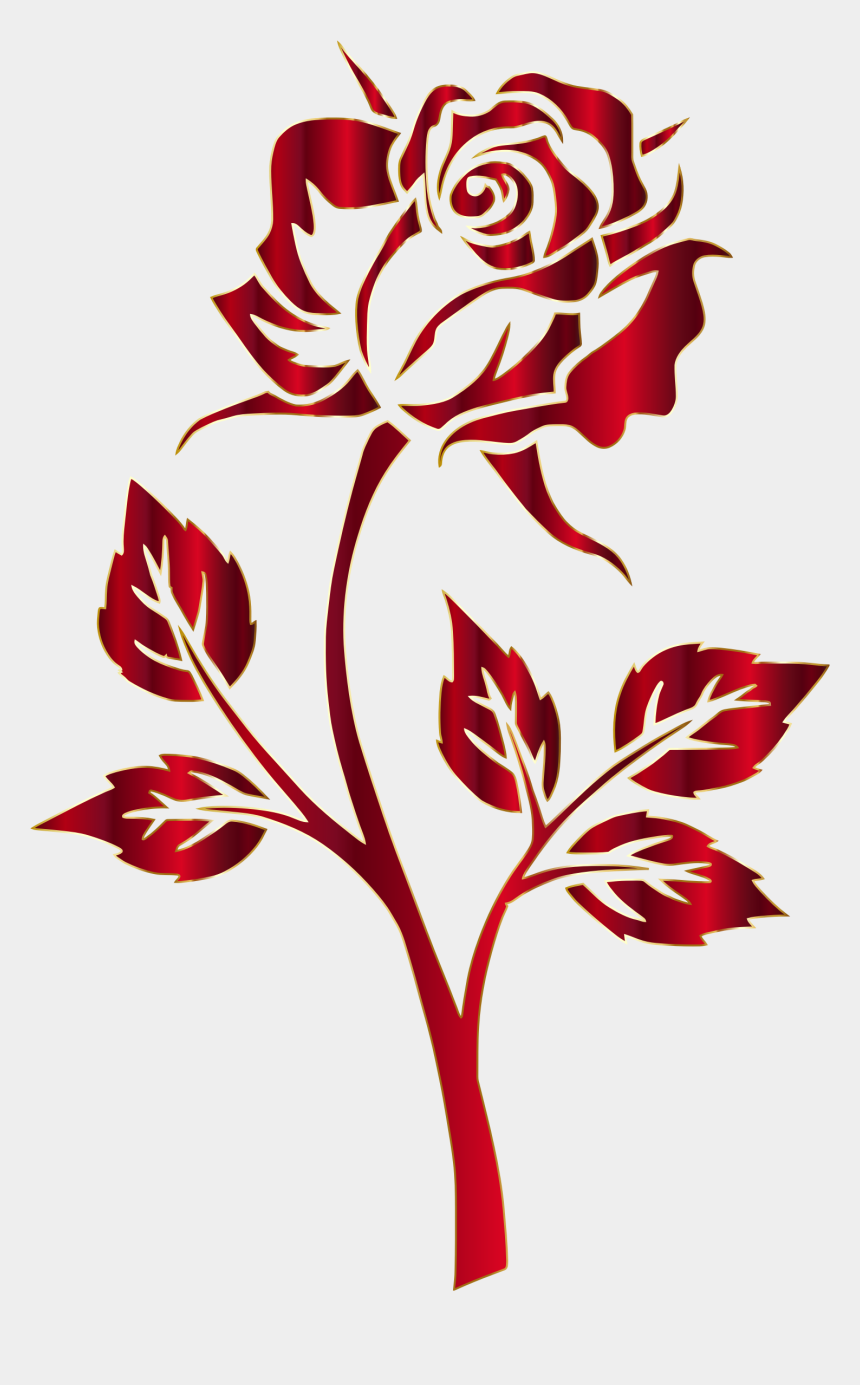rose clip art, Cartoons - Red Rose Clipart Ros - Rose Clipart No Background
