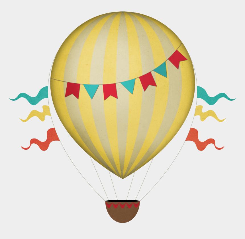 balloon clipart, Cartoons - Download - Hot Air Balloon Vintage Vector