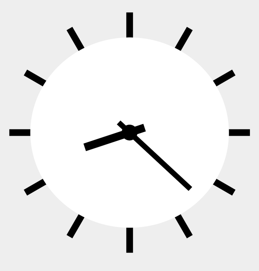clock clipart, Cartoons - Clock - Clipart - Black - And - White - Clock Vector White Png