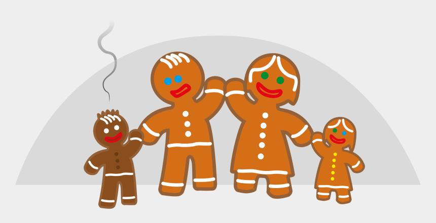 family clipart, Cartoons - Clipart Family Life Of The Gingerbread Man - Gingerbread Family Clipart