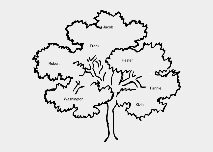 family clipart, Cartoons - Black And White Cook Family Reunion Tree Clipart Cliparts - Family Tree Clip Art Black And White