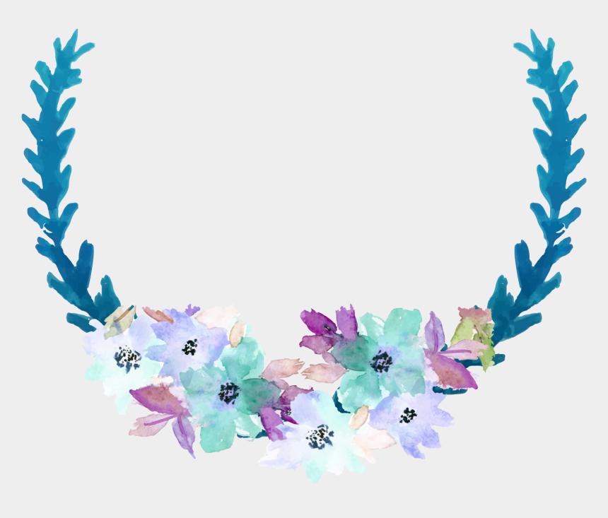 flower clip art, Cartoons - Blue Clip Art - Blue Watercolor Flower Transparent