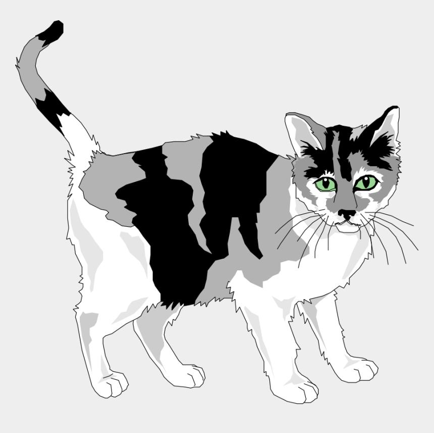 cat clip art, Cartoons - Black And Grey Cat Clipart, Vector Clip Art Online, - Royalty Free Cat Clipart