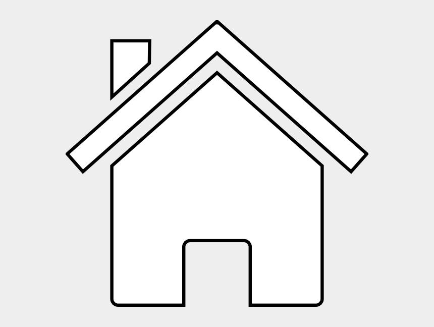 house clip art, Cartoons - House Black And White Clip Art Black And White Home - House Vector White Png